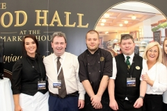 Abbey Hotel Staff - Megan, Danny, Manager, Darek, Chef, John, Anne, Restaurant Manager and Niamh at A Taste of Donegal Food Festival