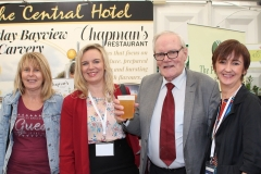 Bernie Young and Liam McIntyre with Central Hotel staff - Elaine McInaw, Sales and Marketing Manager and Breda Haden, General Manager