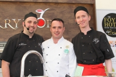 Cookery demonstration by Harvey's Point chefs - Chris McMenamin and Colin McKee with Darren Kildea, Live Kitchen Manager and MC