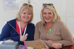 Kathleen McHugh and Anne Marie Meehan helping out at the Food Festival