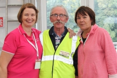 Marie McCallig, Seamus Carbin and Caroline Walsh helping out at the Food Festival