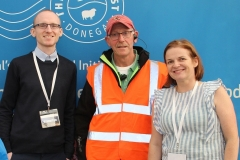 Patrick Devine and Eve-anne McCarron, Donegal Local Enterprise Office with Ernan McGettigan, Chairman of the Food Festival